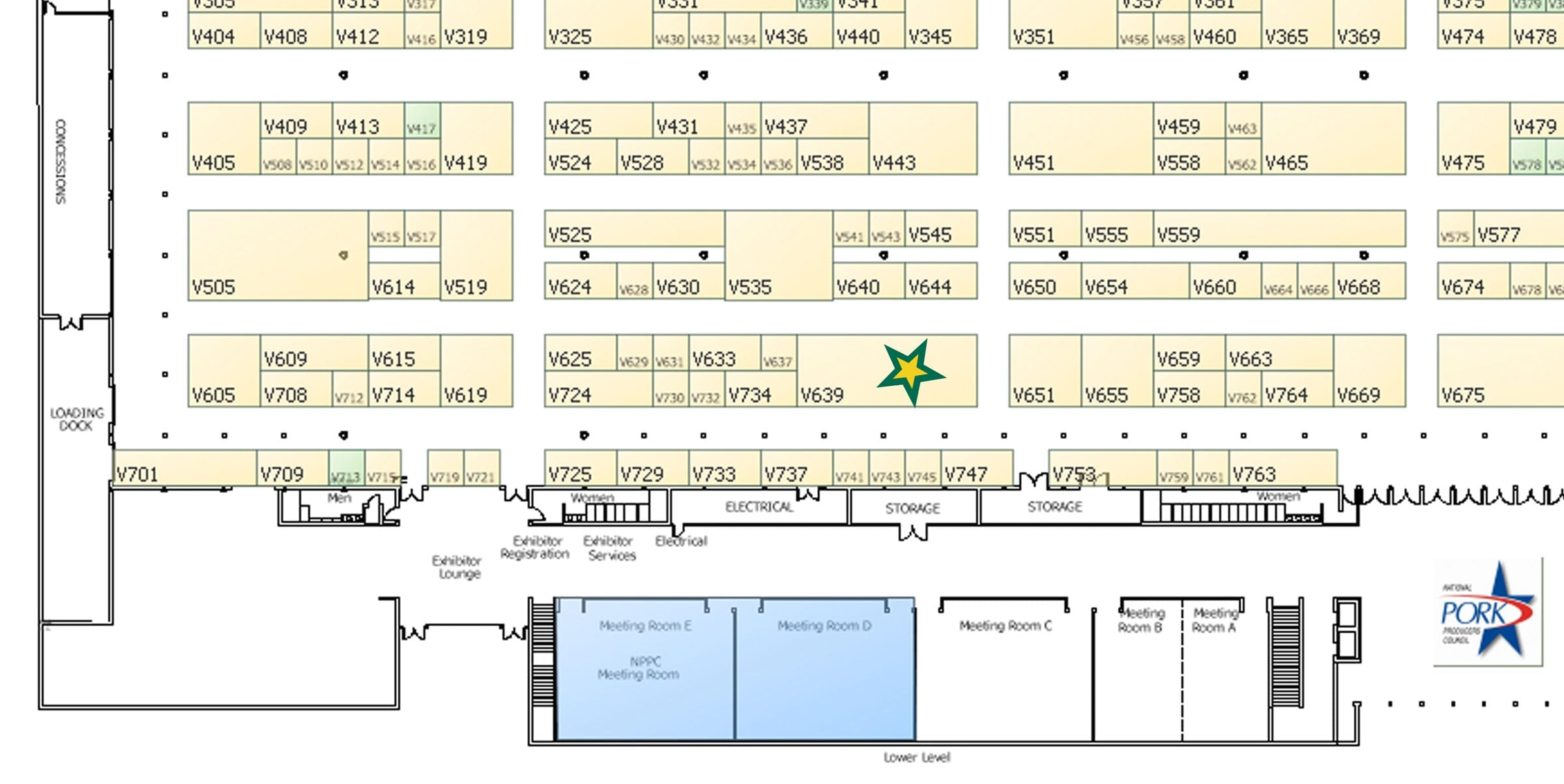 World Pork Expo Booth Location