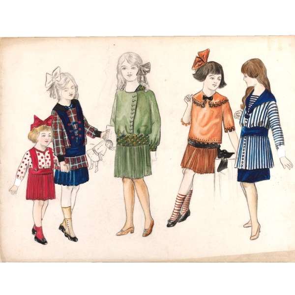 Fashion Drawing and Illustration in the 20th Century   Victoria and     5  Madeleine Vermont  1897 1972   fashion design  London  1913