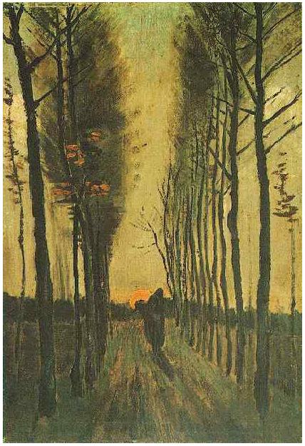 Avenue Of Poplars At Sunset By Vincent Van Gogh 13