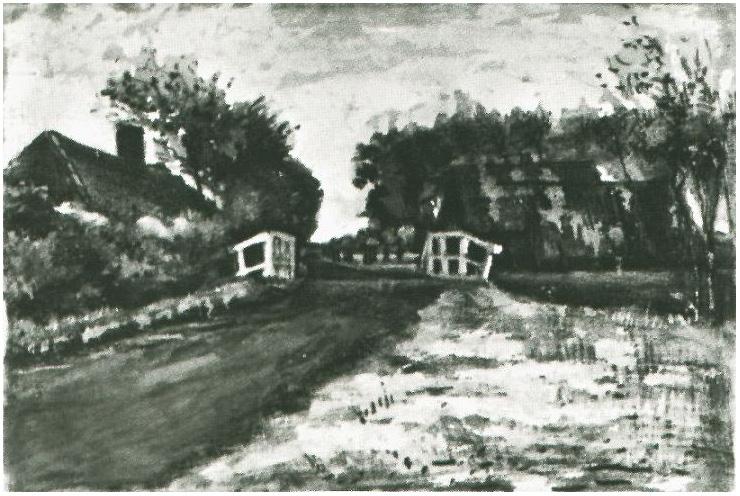 Black Gogh Van And Drawings White