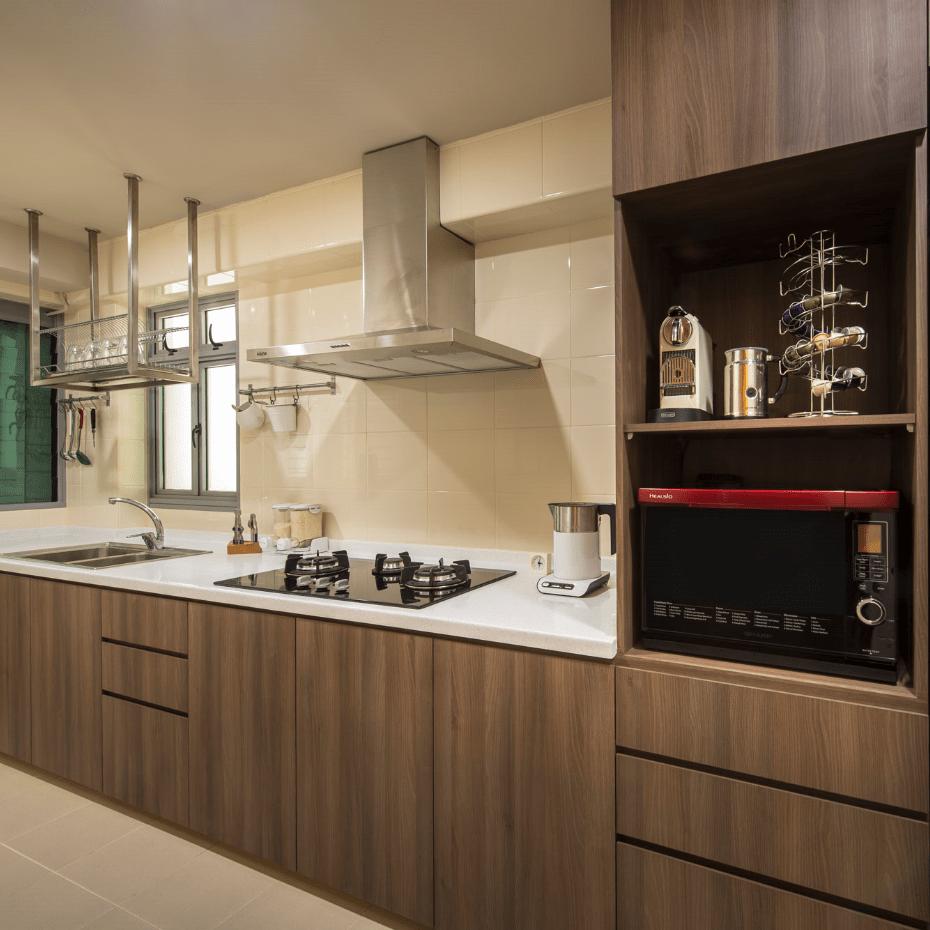 Cherry Melamine Kitchen Cabinet Vc Cucine China Kitchen
