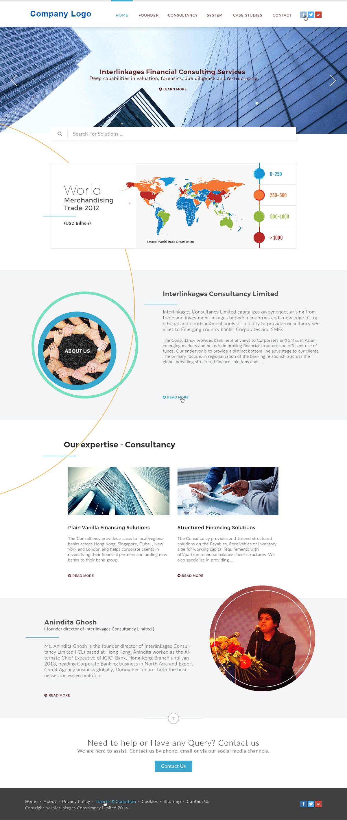 Financial Advisor & Consultancy Website Template
