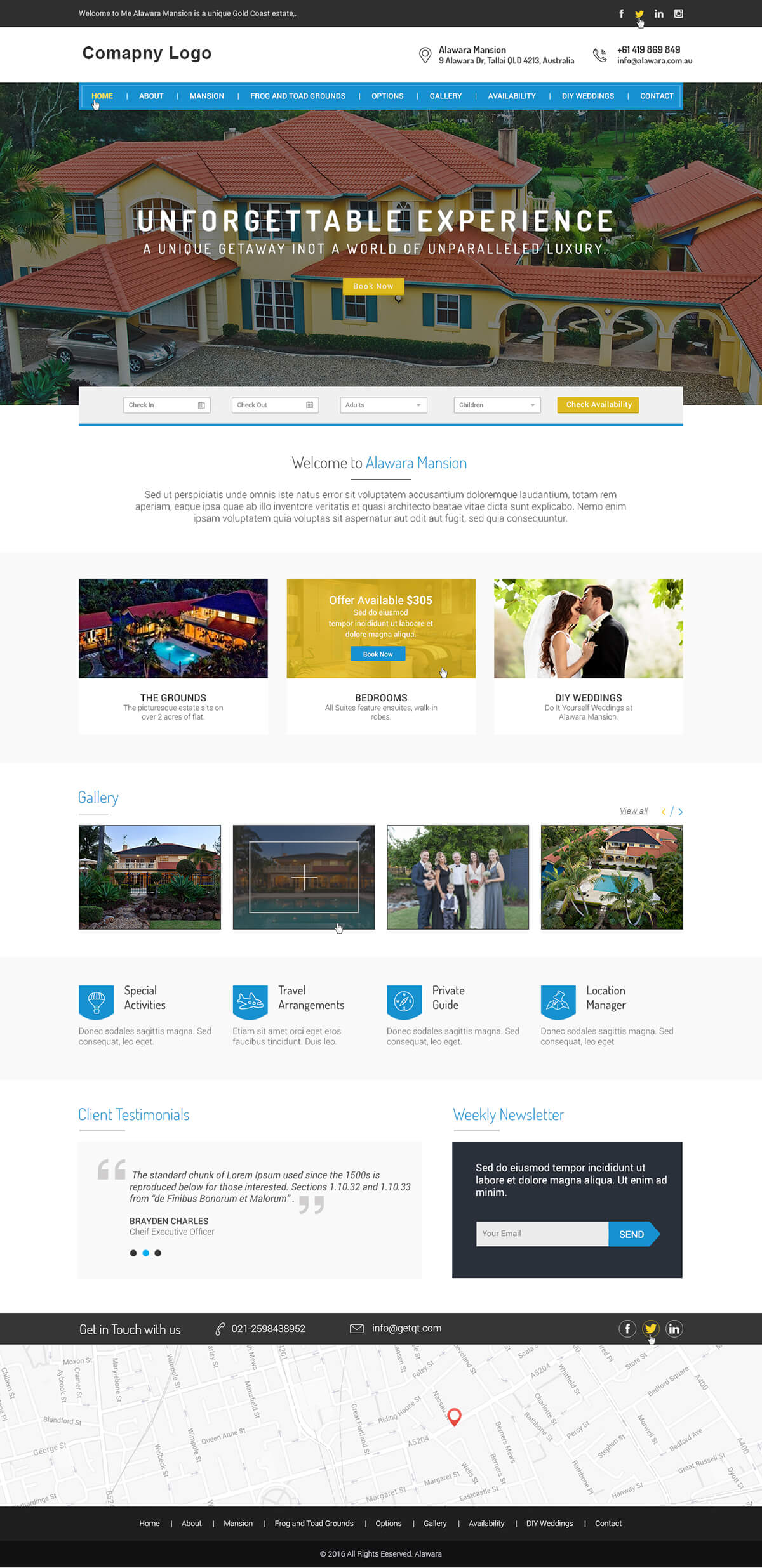 Hotel & Resort Website Template