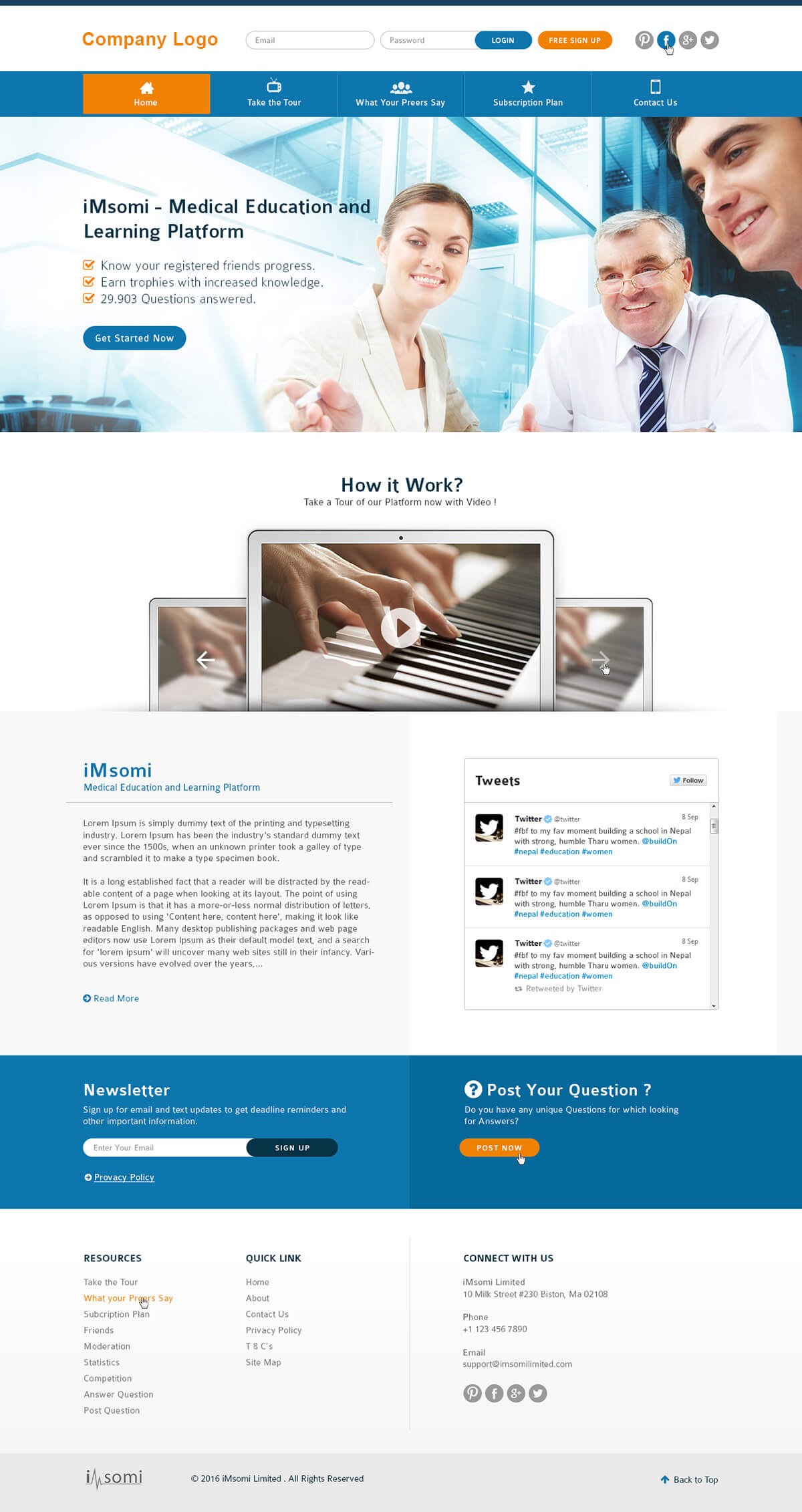 Online Medical Education Website Template