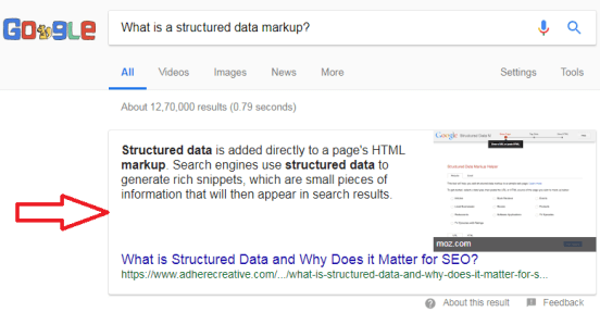 What is a structured data markup?