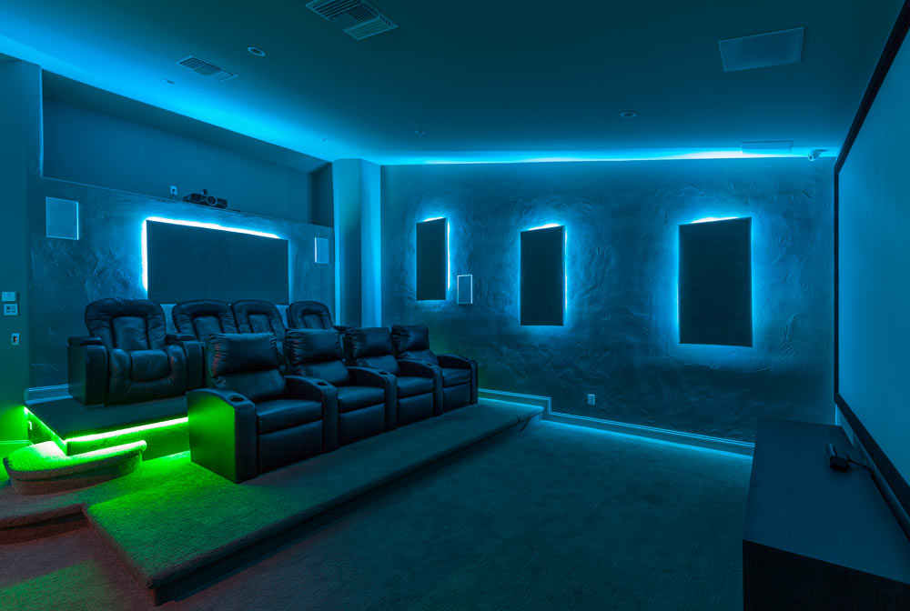 Game Room And Theater Room Remodel Within Southern Highlands Martin Homes Inc