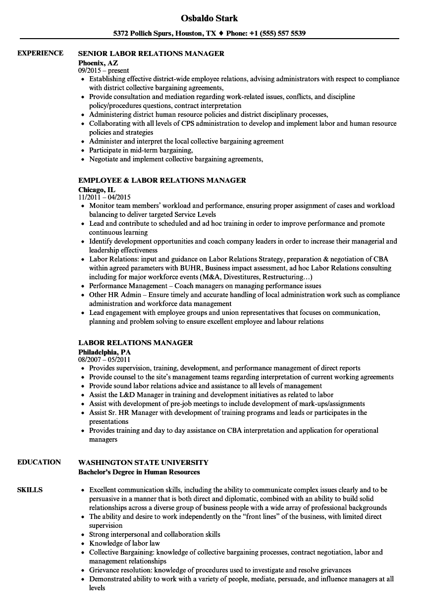 Assembly Job Resume Samples