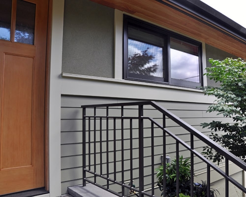 Stairs And Railing Projects Ventana Construction Seattle Washington | Steel Handrails For Outdoor Steps | Tubular Steel | Steel Handrail Style Kerala Staircase | Stainless | Commercial | Residential