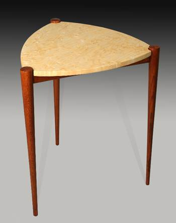 Curly Ash Amp Oak Triangle Table Guild Of Vermont