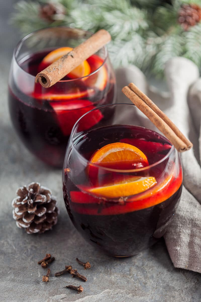 Heartwarming Mulled Red Wine Vibrant Plate