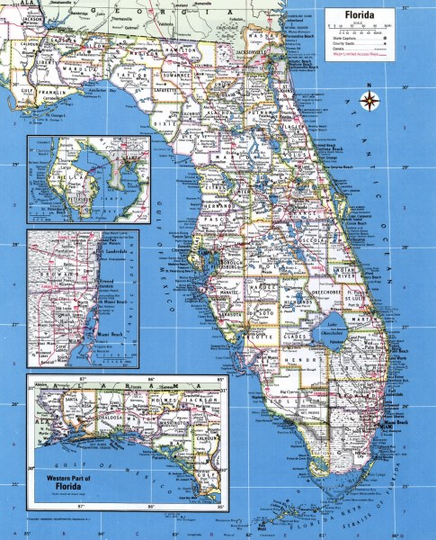 map of all cities in florida