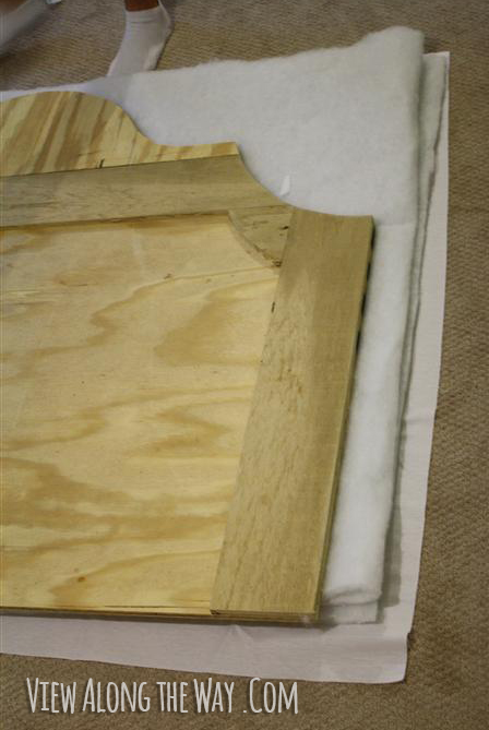 How to Build an Upholstered Bed     View Along the Way   How to upholster a headboard  step by step DIY instructions