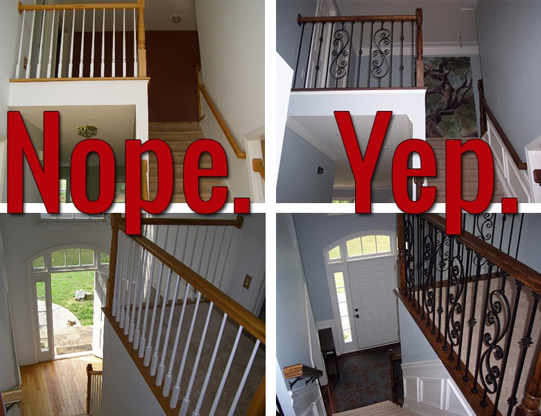 How To Install Iron Balusters View Along The Way   Installing Wrought Iron Railings On Stairs   Railing Kits   Concrete Steps   Iron Balusters   Outdoor Stair   Stair Spindles