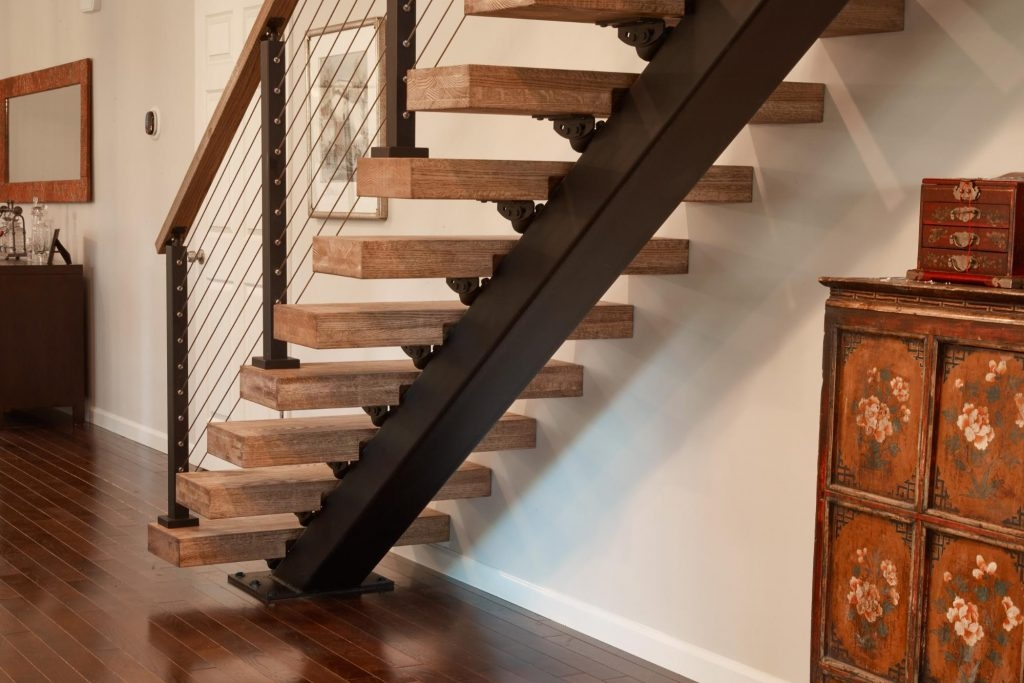Straight Staircases Single Stringer Metal Staircases Viewrail | Wood Mono Stringer Stairs | Central | Arch | Hardwood | Glass | Timber