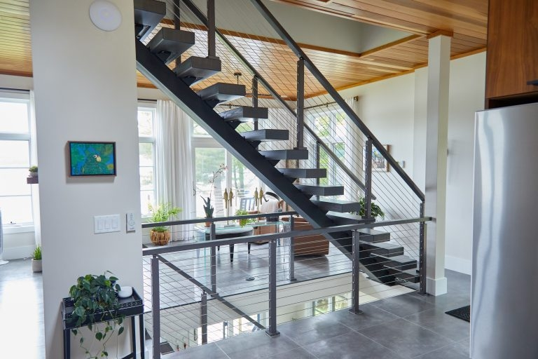 The Viewrail Gallery Modern Staircases Railings Ideas   Modern Stair Railings Interior   Minimalist   Luxury   Straight   Wall Mounted   Brushed Nickel
