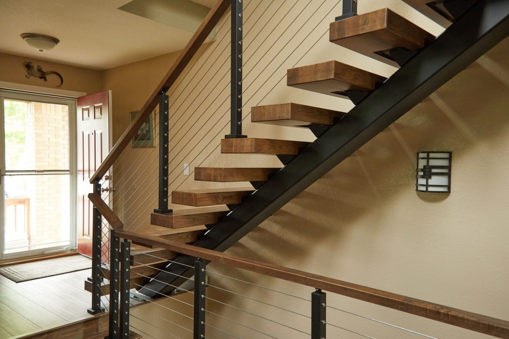 How Much Do Floating Stairs Cost Viewrail | Steel Railing For Stairs Price | Fancy | Iron Work | Ss Handrail | Cheap | Inside