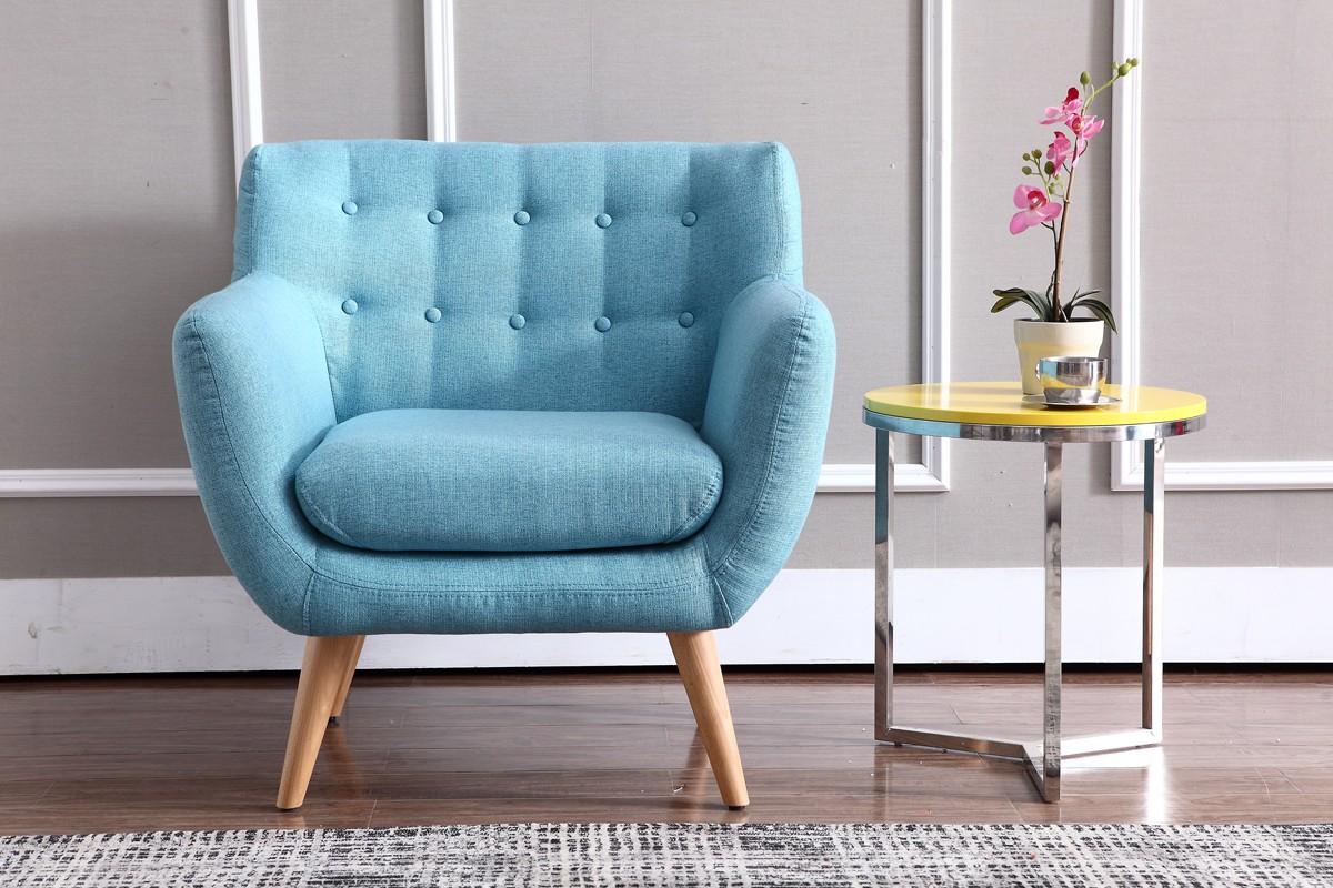 Blue Accent Upholstered Chair