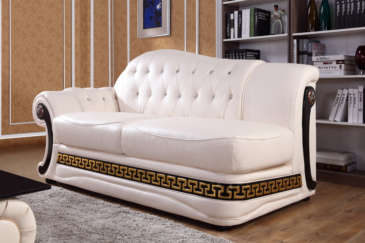 Leather Sectional Couch Chaise