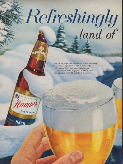 1954 Hamm S Beer Vintage Ad Quot Refreshingly Yours Quot