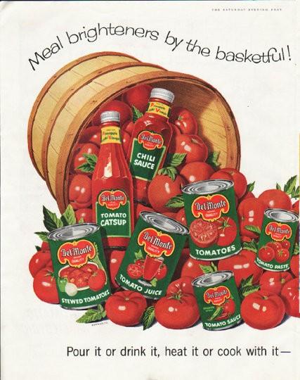 1958 Del Monte Vintage Ad Quot Meal Brighteners Quot