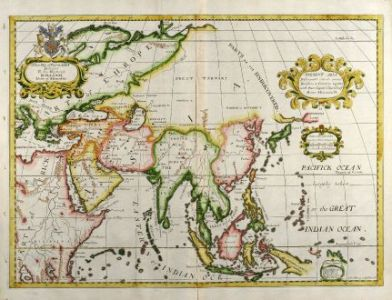 A New Map of Present Asia   Wells  Asian Continent  1738 Antique Maps  Wells  Asian Continent  1738  A New Map of Present Asia