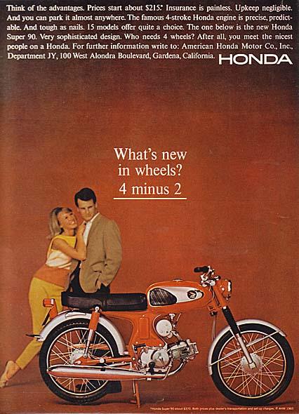 Honda Motorcycle Ads