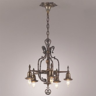 Vintage Chandelier   Vintage   Antique Lighting and Light Fixtures     Starred Gothic Revival Chandelier