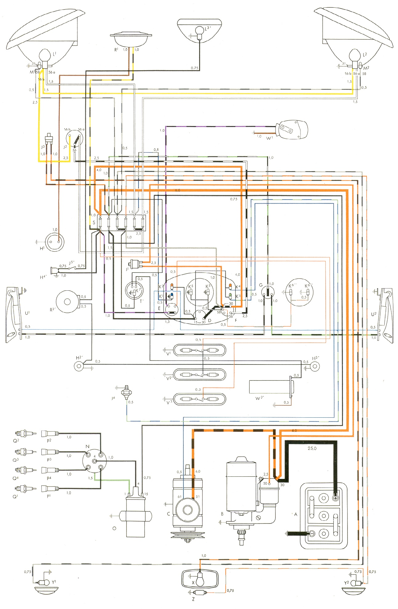 1957 bug wiring diagram rh homesecurity press