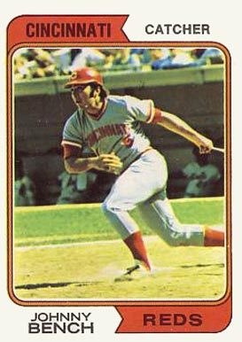 1974 Topps Johnny Bench 10 Baseball Card Value Price Guide