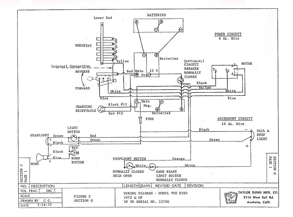 Taylor Dunn T Bird Wiring Schematic Battery