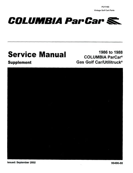 Columbia Par Car Service Manual