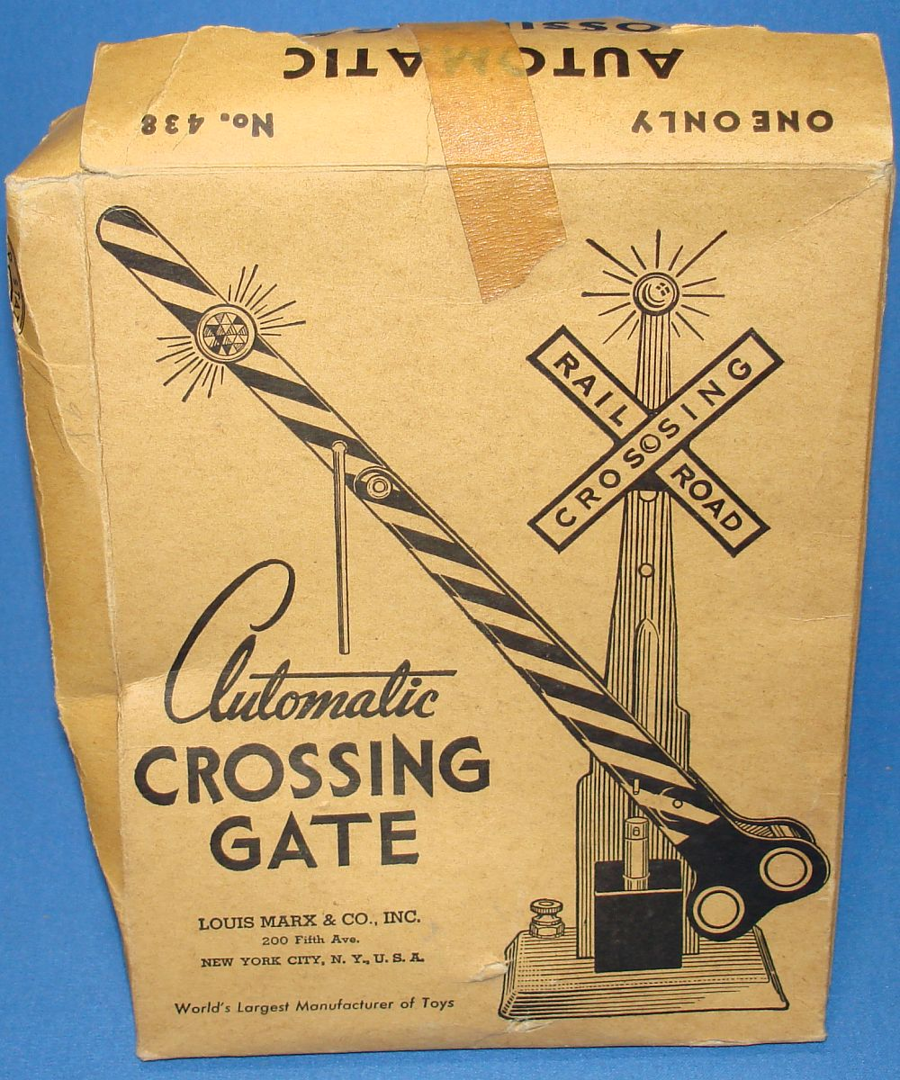 Toy Train Crossing Gate