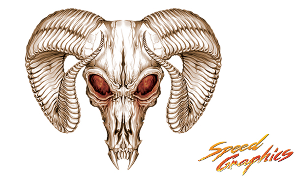 Custom Dodge Ram Skull Decals