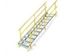 Prefab Stairs Metal Stairs Industrial Equipment For Sale | Used Steel Stairs For Sale | Seawall | Exterior | Hinged | Black Metal | Industrial