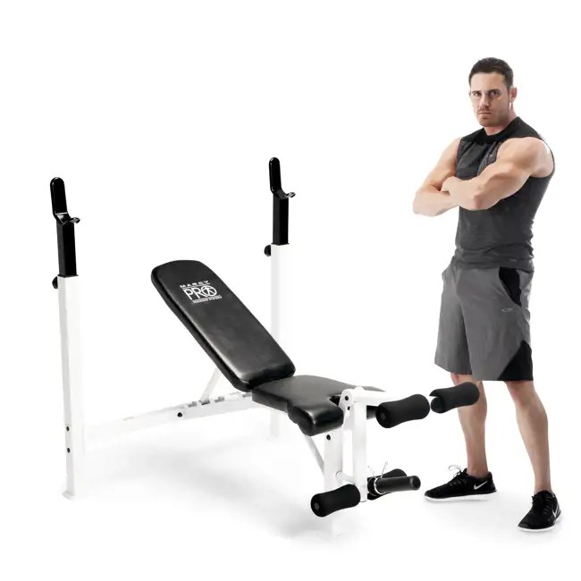 Marcy Fitness Adjustable Olympic Weight Workout Bench With
