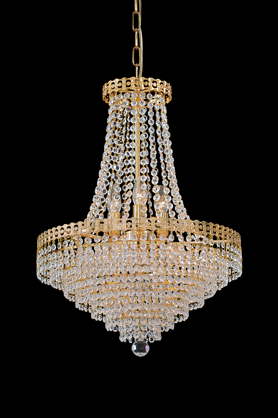 Gold And Crystal Chandelier 10 Lights Masiero Murano