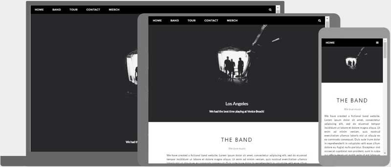 W3 CSS Templates Band Template