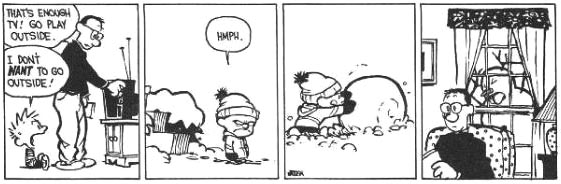 Calvin And Hobbes Snow Storm