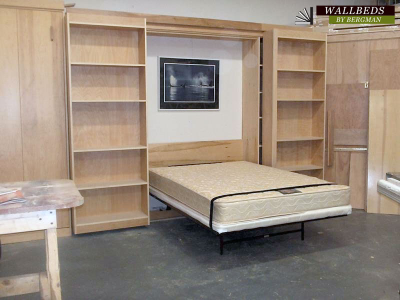 Queen Budget Library Bed With Metal Frame Item 120