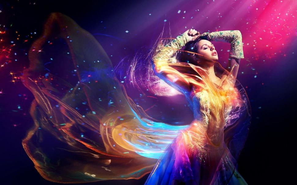 Colorful dress 3d CG Abstract beautiful amazing HD wallpaper   3d     colorful dress 3d CG Abstract beautiful amazing HD Wallpaper