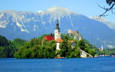Landscape Lake Bled Slovenia Wallpaper Hd : Wallpapers13.com