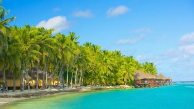 Island Of Akitua Aitutaki Cook Islands Bungalow Tropical ...