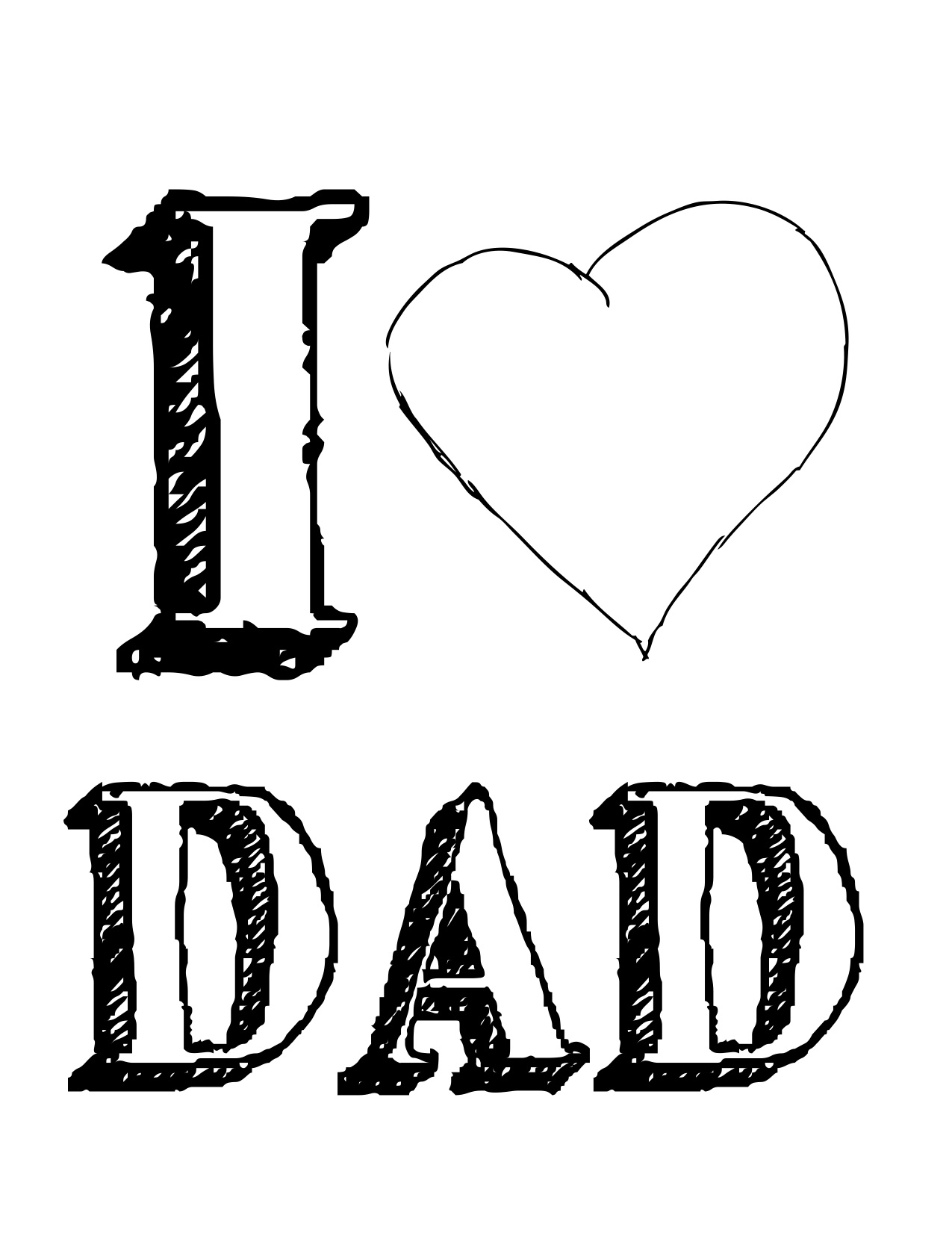 Download dad name wallpaper gallery, i love dad coloring pages