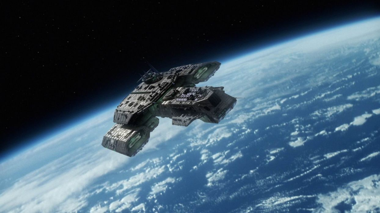 Stargate Atlantis Daedalus Spaceships Wallpaper