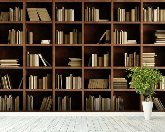 Natural Bookcase Wall Mural   Natural Bookcase Wallpaper   Wallsauce UK Natural Bookcase Wallpaper Mural wallpaper mural room setting