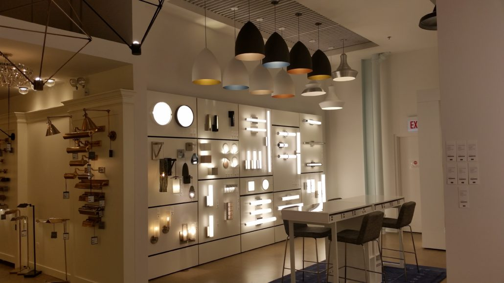 Lighting Showroom Display Fixtures
