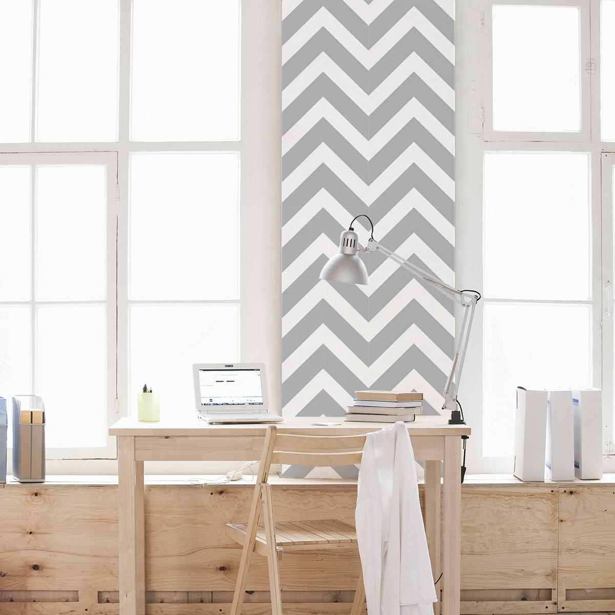 Chevron Removable Wallpaper Zigzag Stripe Wallpaper