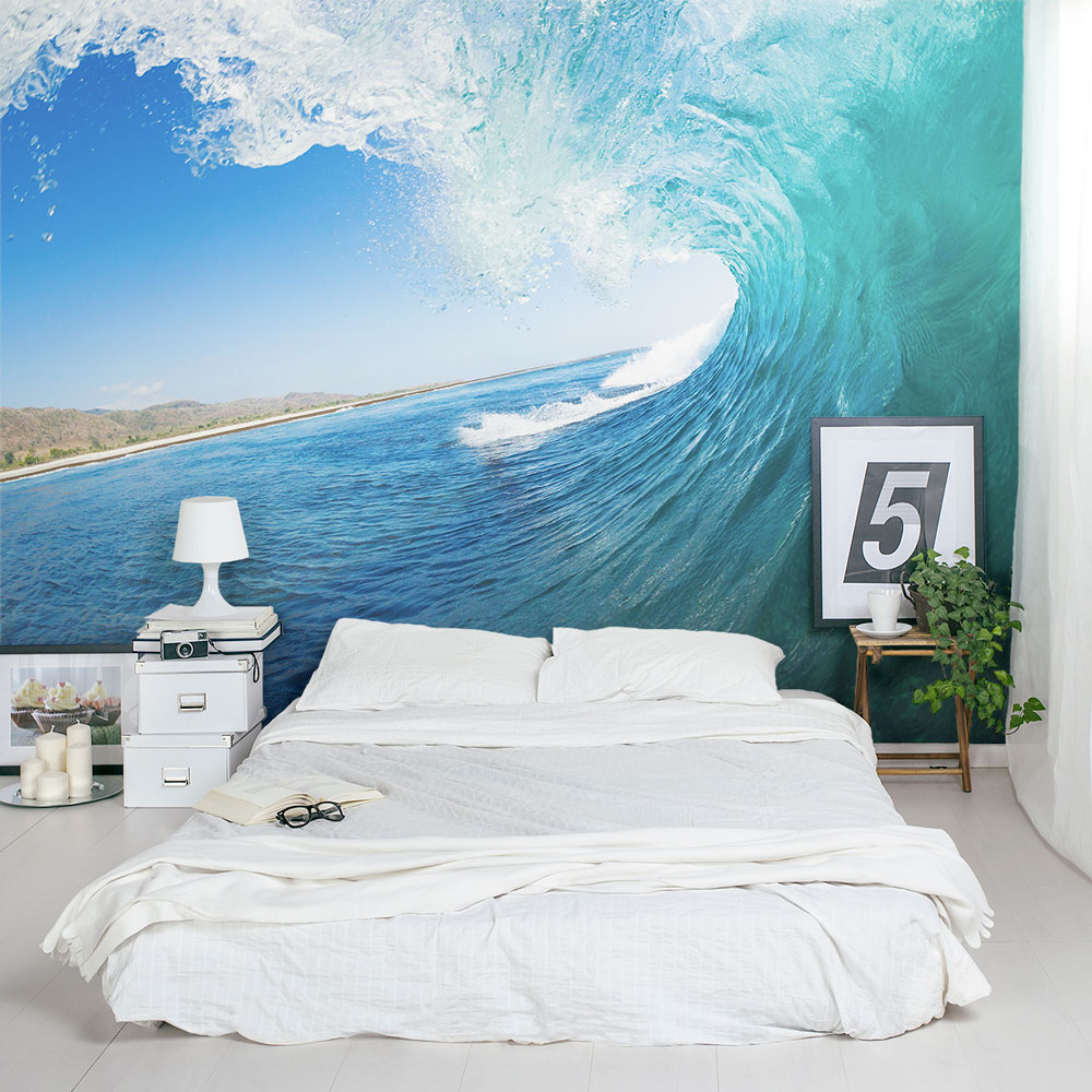 Ocean Wave Wall Mural Ocean Wallpaper Mural Wallums