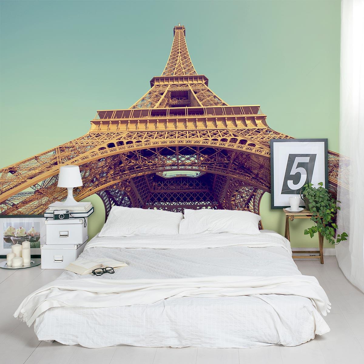 Retro Eiffel Tower Wall Mural