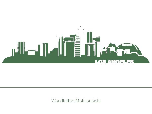 Wandtattoo Los Angeles Skyline L.A. Wandtattoo bei ...
